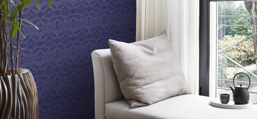 paars behang