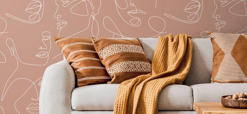 terracotta behang
