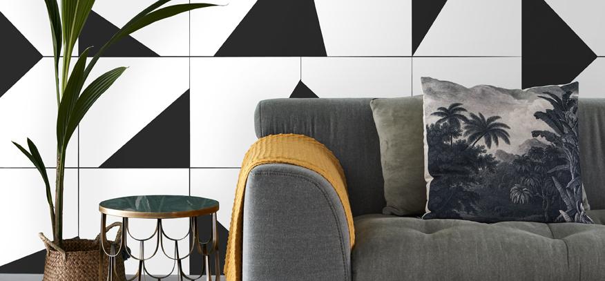 zwart-wit behang