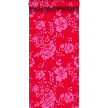 behang bloemen rood en roze van ESTA home