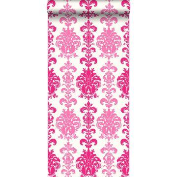 behang barokprint roze van ESTA home