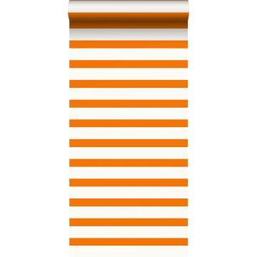 ESTAhome behang strepen oranje en wit