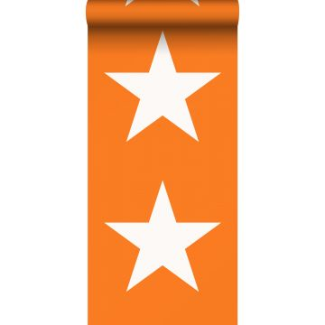 ESTAhome behang sterren oranje en wit