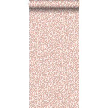 behang panterprint perzik roze van ESTA home