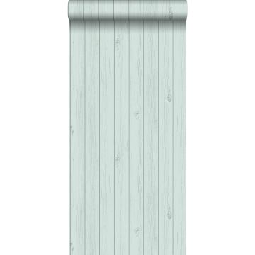 behang smalle sloophout planken vergrijsd mintgroen van ESTA home