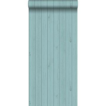 behang smalle sloophout planken vergrijsd zeegroen van ESTA home