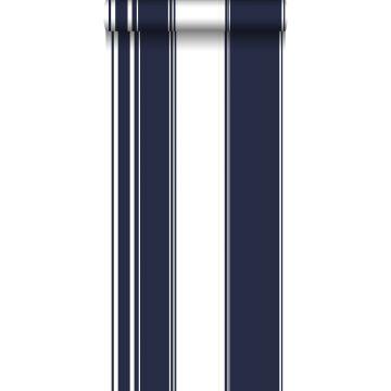 behang strepen marine blauw van ESTA home