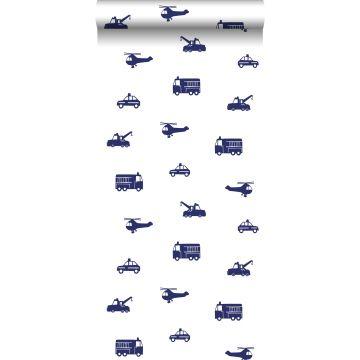 behang auto's blauw van ESTA home