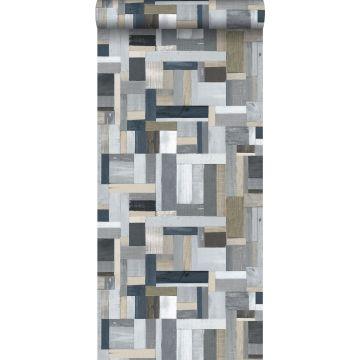 behang sloophout grijs van ESTA home
