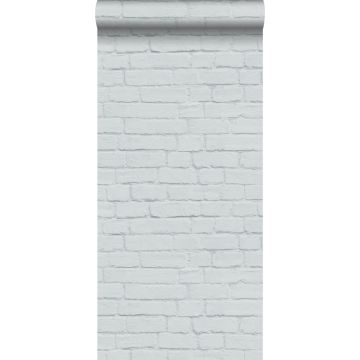 behang bakstenen lichtgrijs van ESTA home