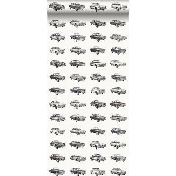 behang vintage auto's zwart van ESTA home