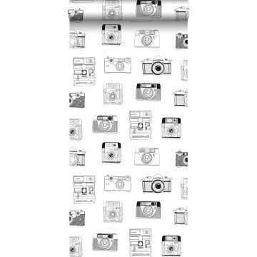 behang polaroid camera's zwart en wit van ESTA home