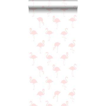 behang flamingo's licht roze en wit van ESTA home
