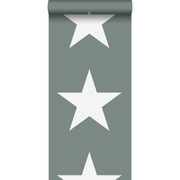behang sterren vergrijsd groen van ESTA home
