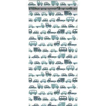 behang auto's vergrijsd blauw van ESTA home