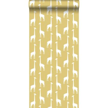 behang giraffen okergeel van ESTA home