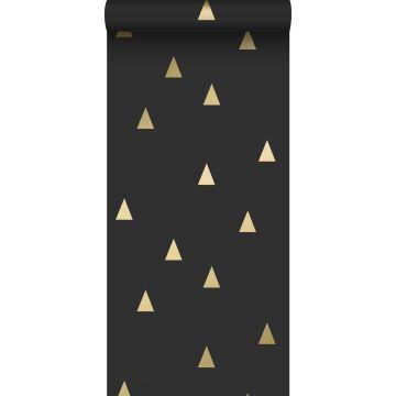 behang grafische driehoeken zwart en goud van ESTA home