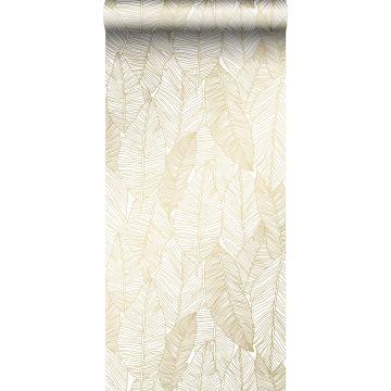 behang getekende bladeren wit en goud van ESTA home
