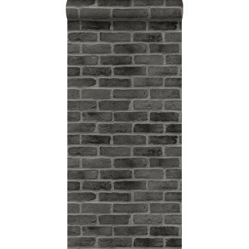 behang bakstenen zwart van ESTA home