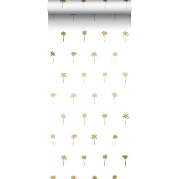 behang palmbomen wit en goud van ESTA home