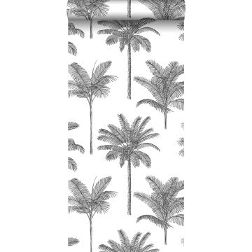 behang palmbomen zwart wit van ESTA home