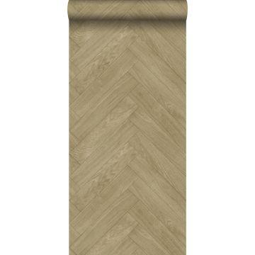 behang hout motief donker beige van ESTA home