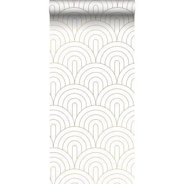 behang art deco motief wit en goud van ESTA home