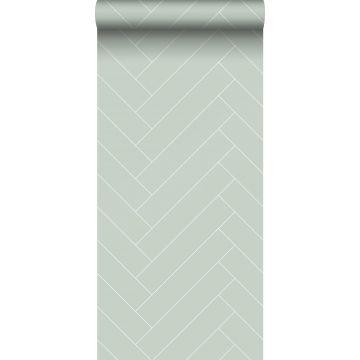 behang visgraat-motief mintgroen en wit van ESTA home