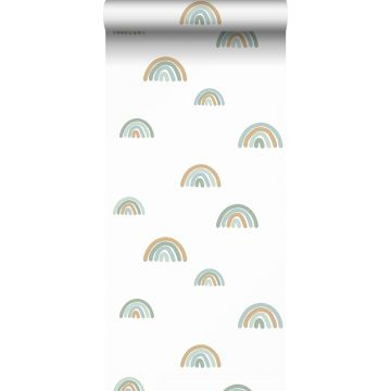 ESTAhome behang regenboogjes vergrijsd blauw, lichtblauw en beige