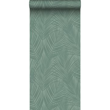 ESTAhome behang palmbladeren vergrijsd groen