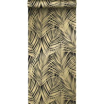 behang palmbladeren zwart en goud van ESTA home