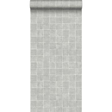 behang tegelmotief grijs van ESTA home