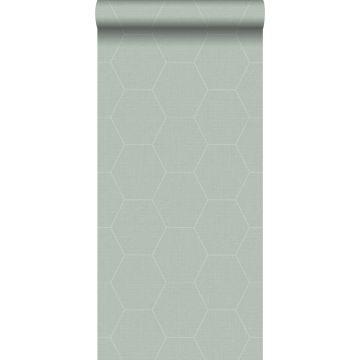 behang hexagon-motief celadon groen van ESTA home