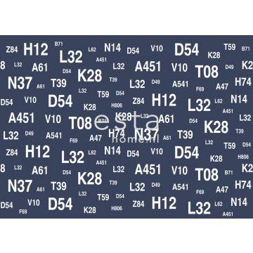 fotobehang zeilboot nummeringen blauw van ESTA home