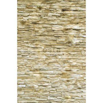 fotobehang modern brick wall beige van ESTA home