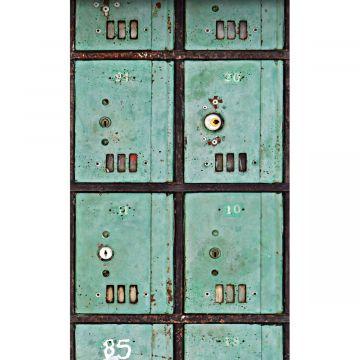 fotobehang brievenbussen zeegroen van ESTA home