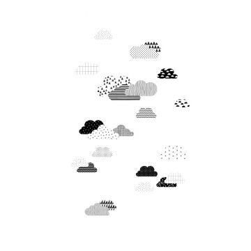 fotobehang wolken zwart wit van ESTA home