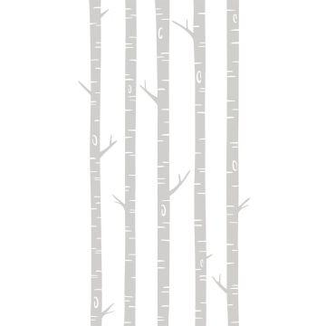 fotobehang berken boomstammen grijs van ESTA home