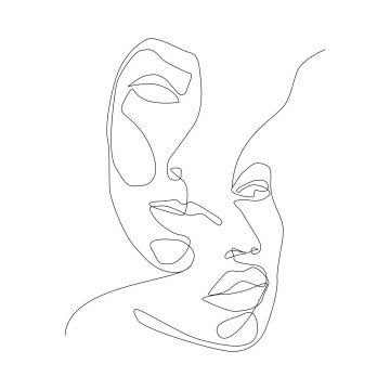fotobehang gezichten zwart wit van ESTA home
