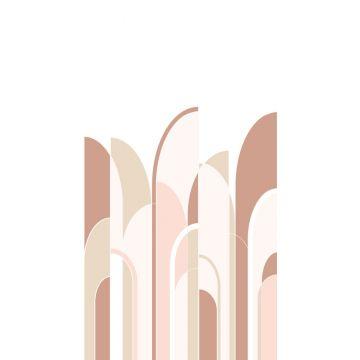 fotobehang art deco motief terracotta en zacht roze van ESTA home