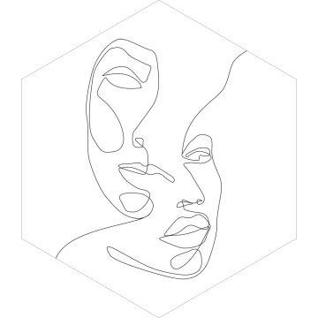 ESTAhome muursticker gezichten zwart wit