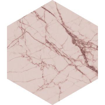 ESTAhome muursticker marmer grijs roze