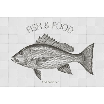ESTAhome muursticker vis zwart