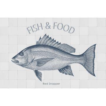 ESTAhome muursticker vis blauw