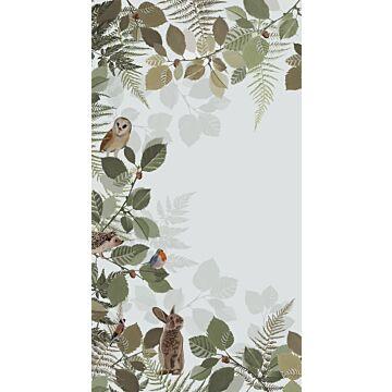 ESTAhome fotobehang bosdieren groen en bruin