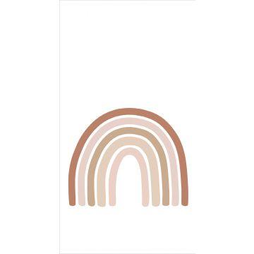 ESTAhome fotobehang regenboog terracotta, zacht roze en beige
