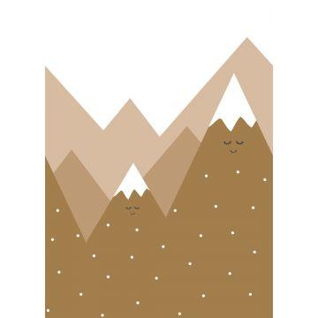 ESTAhome fotobehang bergen okergeel