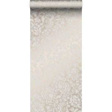 behang kant-motief zilver van Origin