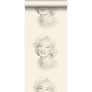 behang Marilyn Monroe wit en grijs van Origin