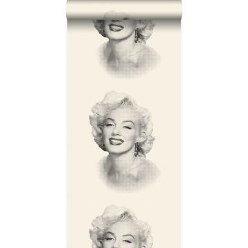 behang Marilyn Monroe wit en zwart van Origin